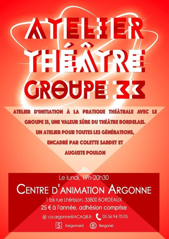 Atelier théâtre Groupe 33