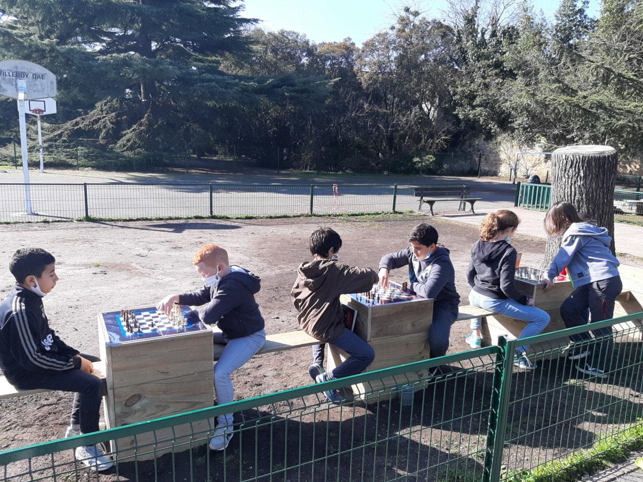 Les enfants réaménagent leur école
