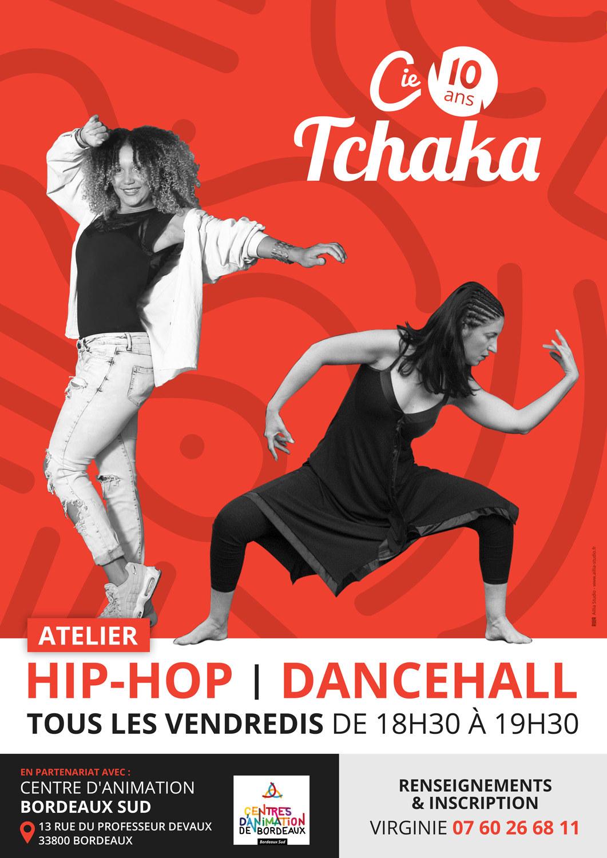 1911-cie-tchaka-affiche-BORDEAUX-SUD hip hop dancehall 2020 2021