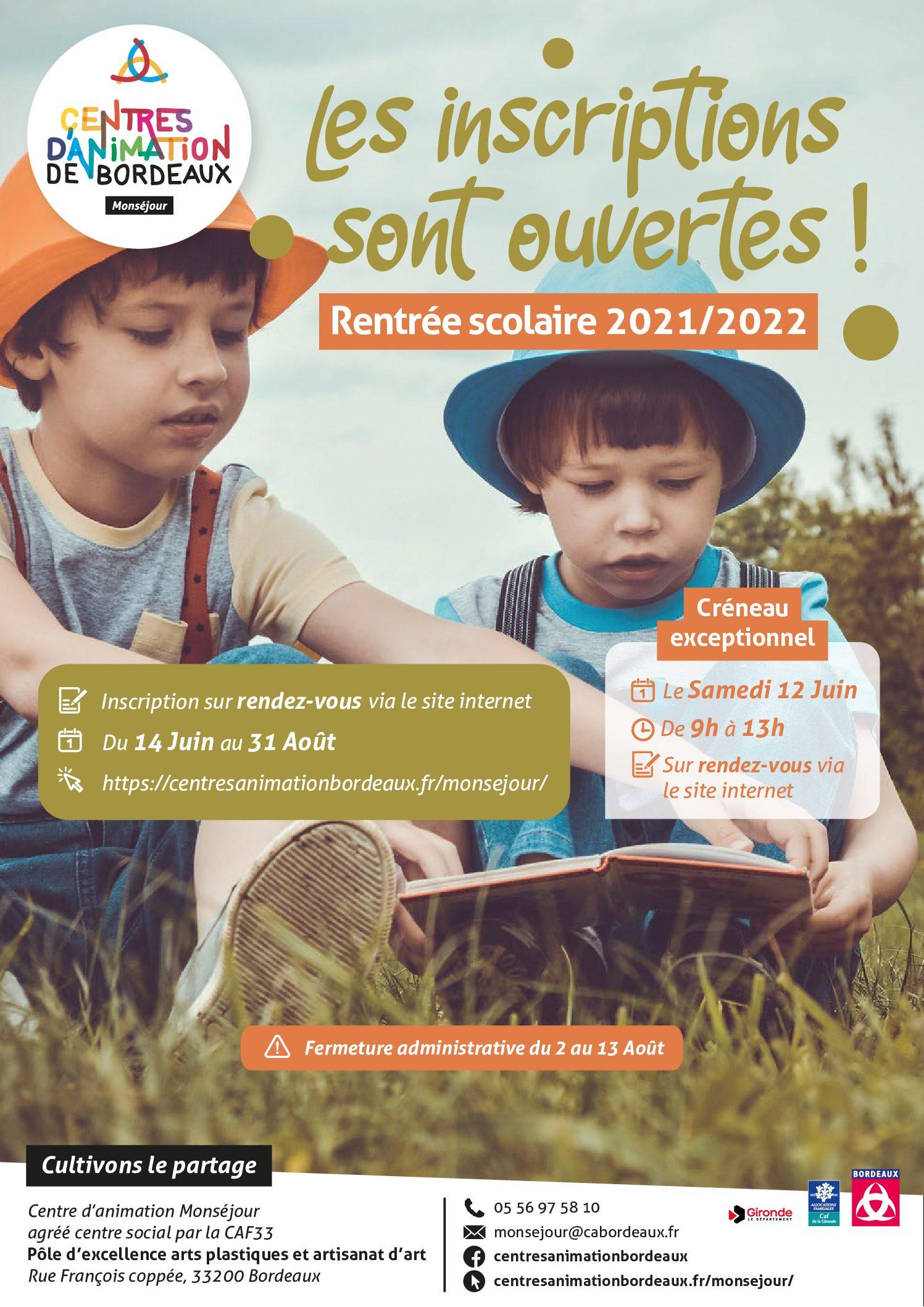Inscriptions_rentrée scolaire_AFFICHE