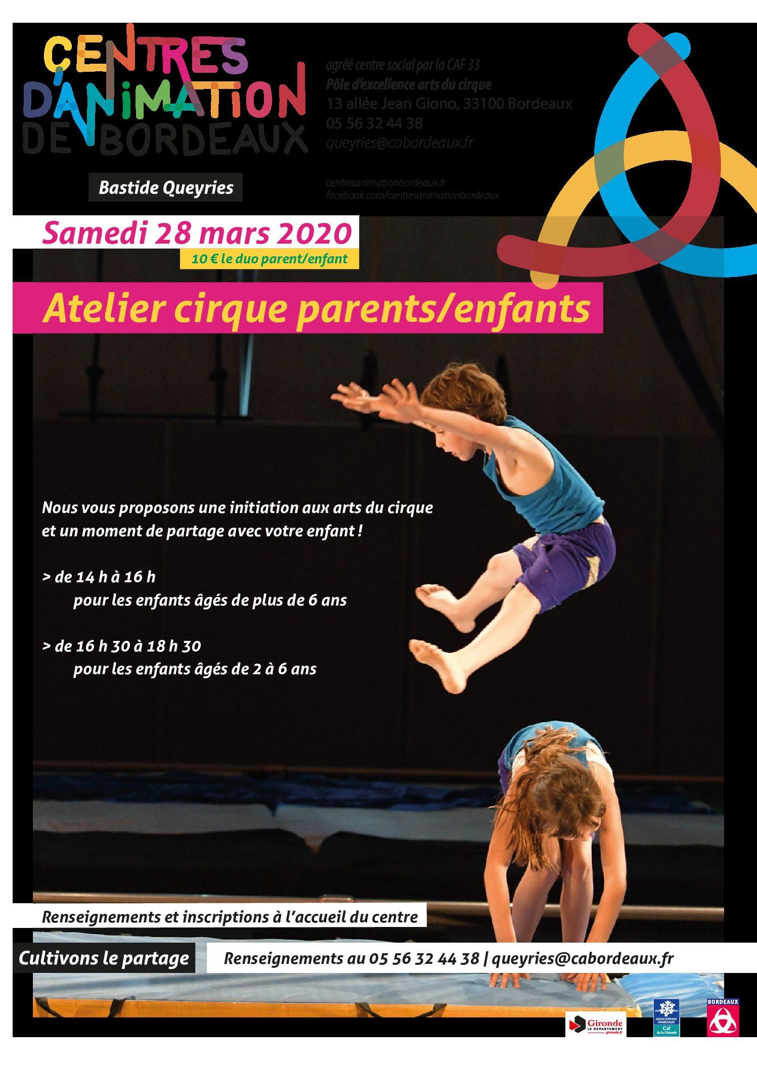 Adultes & Familles - Ateliers Cirque Parents Enfants - 280320
