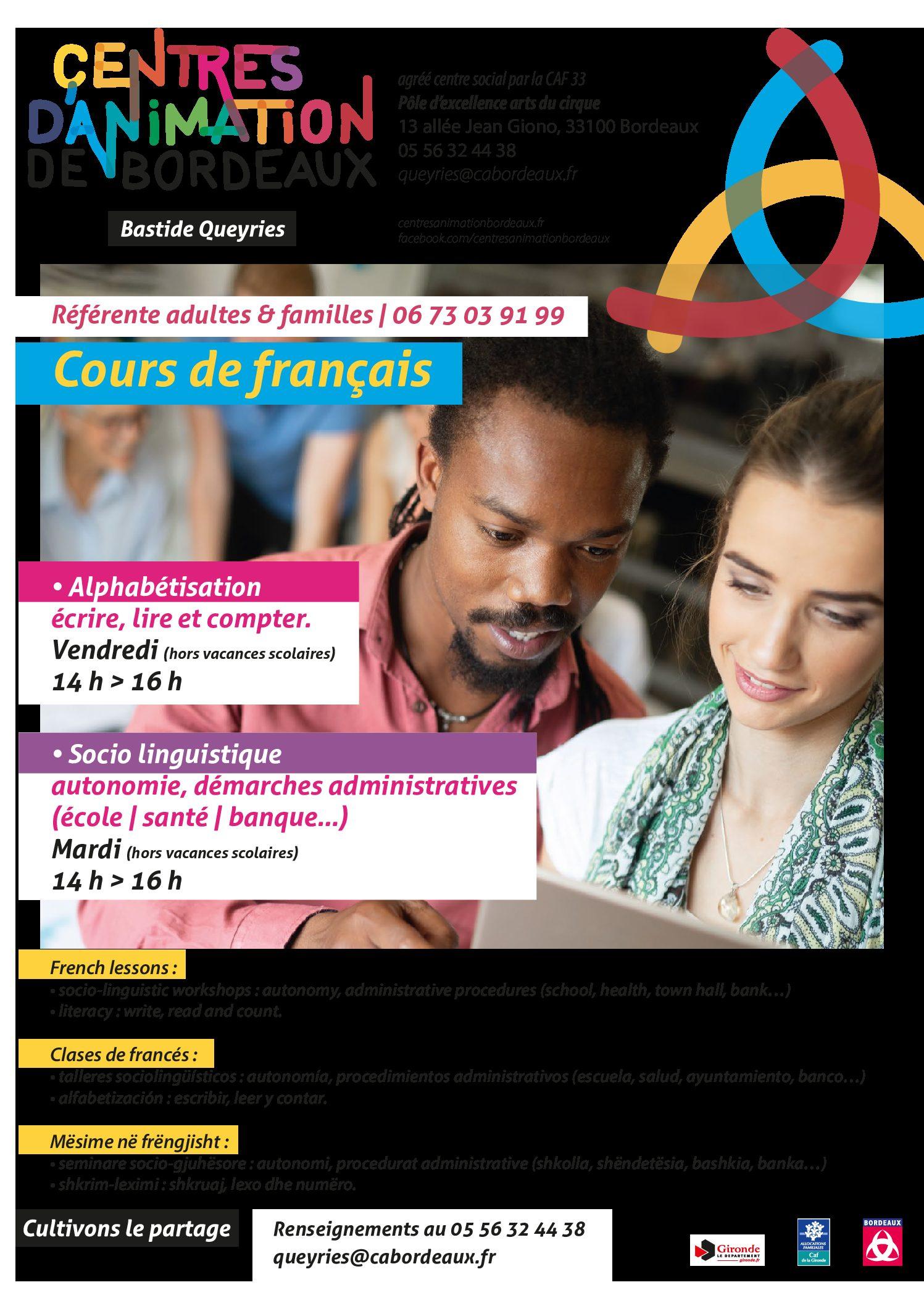 Adultes & Familles - Cours de Francais - A3