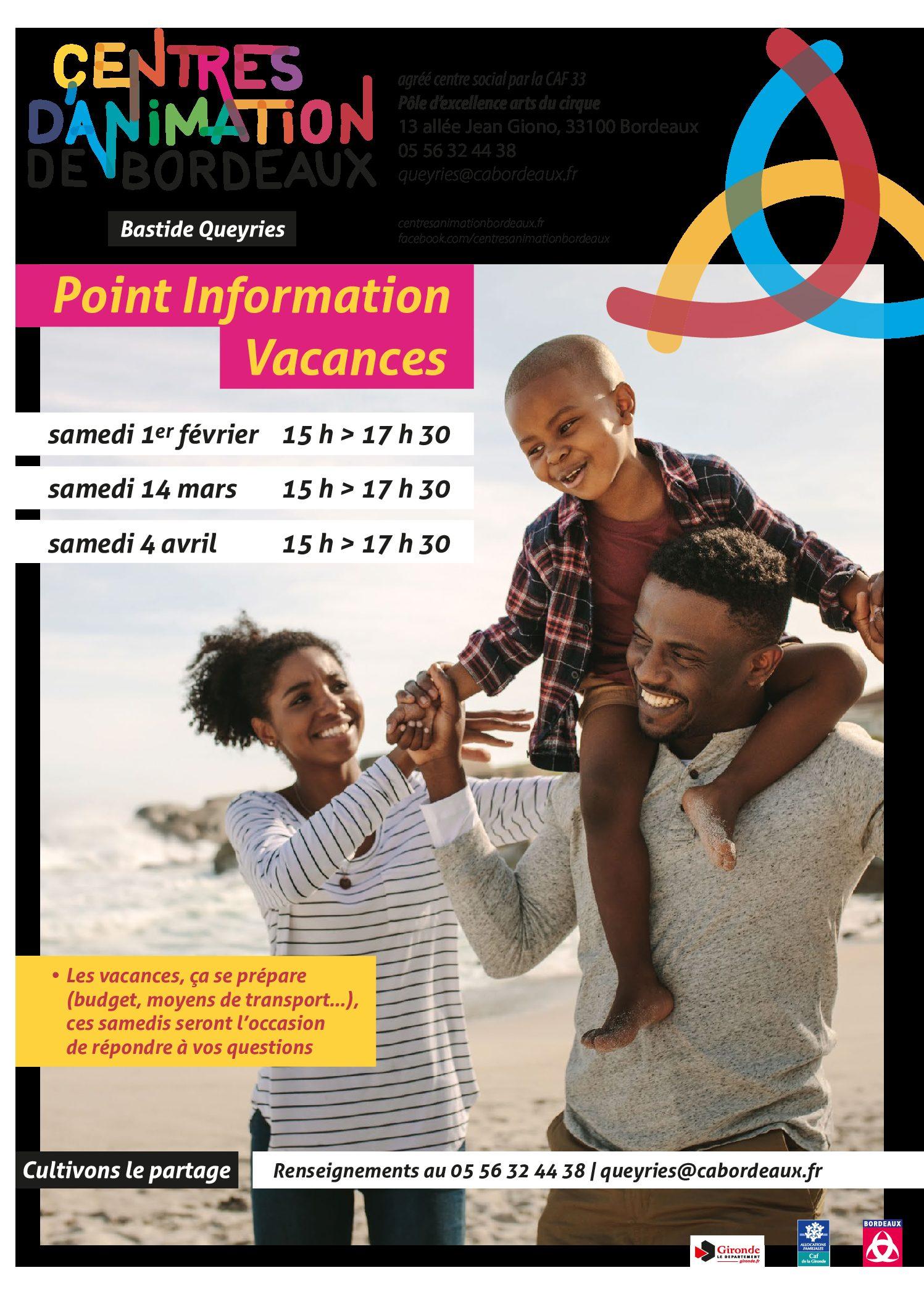 Adultes & Familles - Point Info Vacances 2020