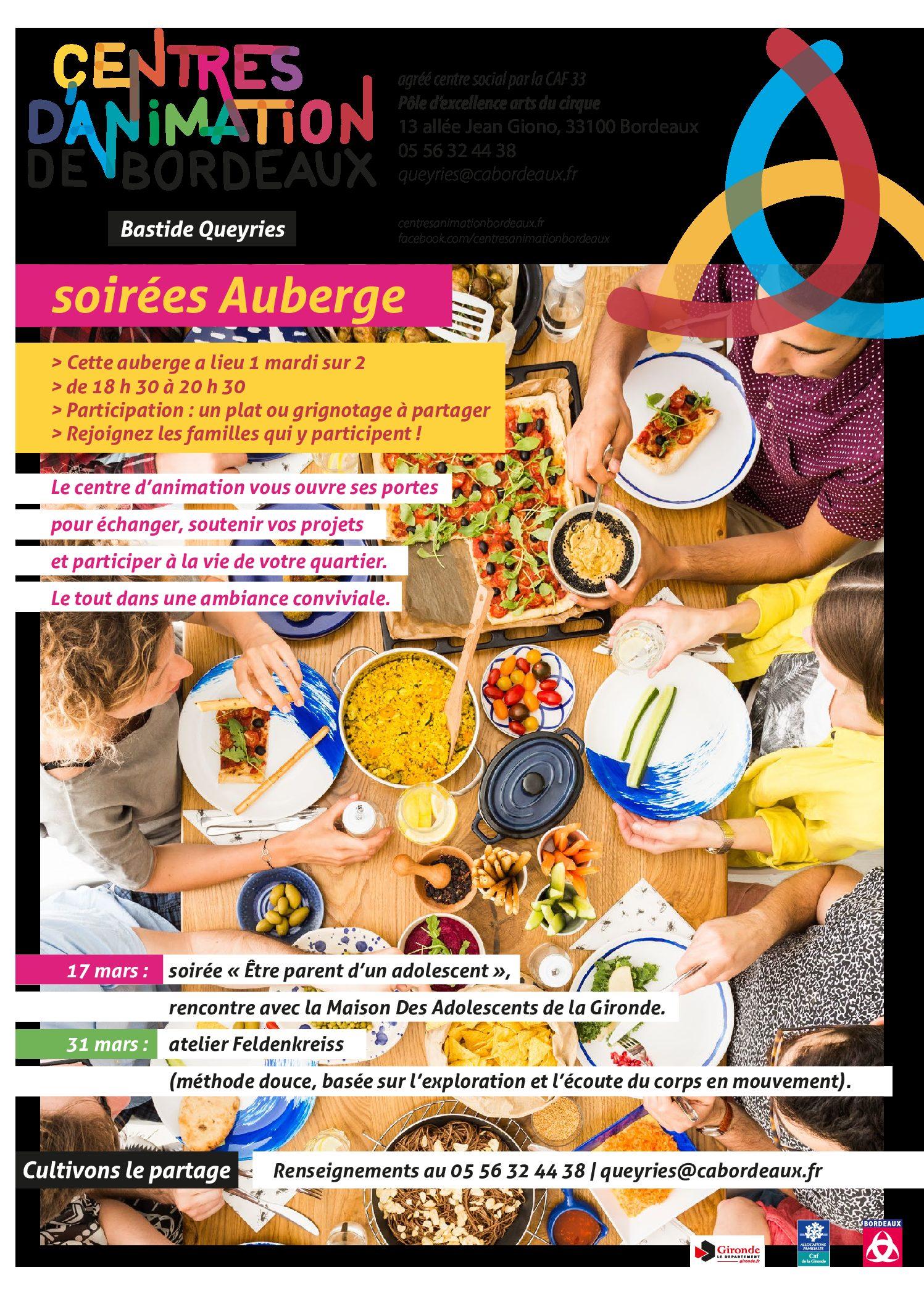 Adultes & Familles - Soirée Auberge - Mars